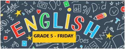 English Language Program – Grade 5 – Friday Evening – Online
