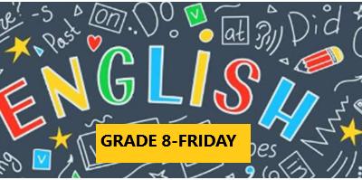 English Language Program – Grade 8 – Friday Evening – Online
