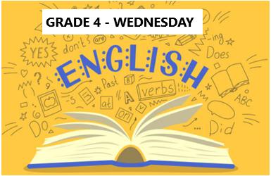 English Language Program – Grade 4 – Wednesday Evening- Online