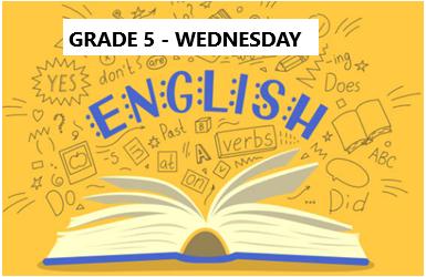 English Language Program – Grade 5 – Wednesday Evening- Online
