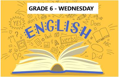 English Language Program – Grade 6 – Wednesday Evening- Online