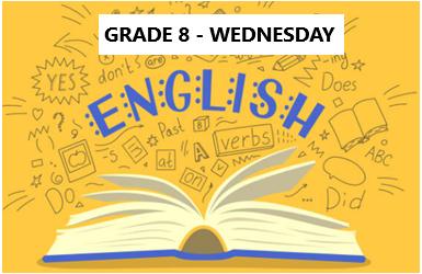 English Language Program – Grade 8 – Wednesday Evening – Online