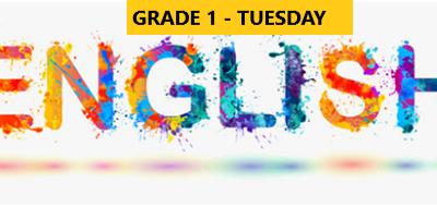 English Language Program – Grade 1- Tuesday Evening – Online