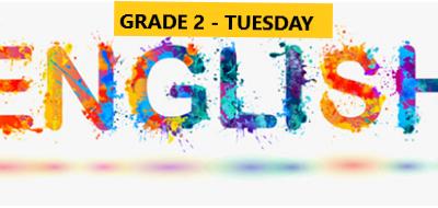 English Language Program – Grade 2 – Tuesday Evening – Online