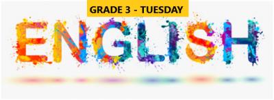 English Language Program – Grade 3 – Tuesday Evening – Online