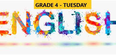 English Language Program – Grade 4 – Tuesday Evening – Online