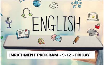 English Enrichment Program – Grades 9-12 – Friday Evening – Online