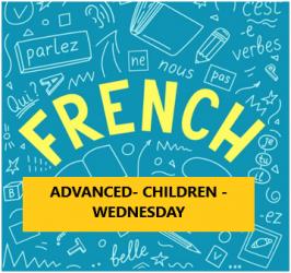 French Language Program – Advanced – Children – Wednesday Evening-Online