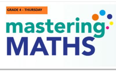 Mastering Math – Grade 4 – Thursday Evening – Online