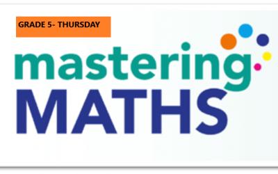 Mastering Math – Grade 5 – Thursday Evening- Online