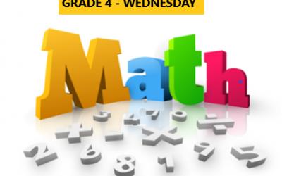 Mastering Math – Grade 4 – Wednesday Evening – Online