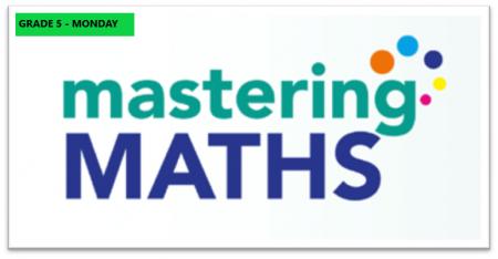 Mastering Math – Grade 5 – Monday Evening- Online