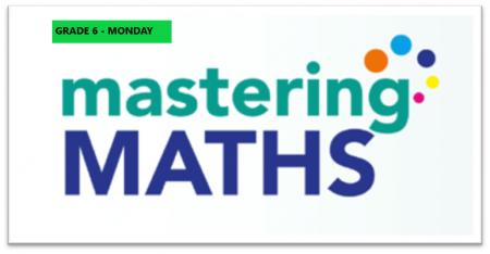 Mastering Math – Grade 6 – Monday Evening- Online