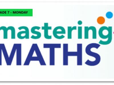 Mastering Math – Grade 7 – Monday Evening- Online