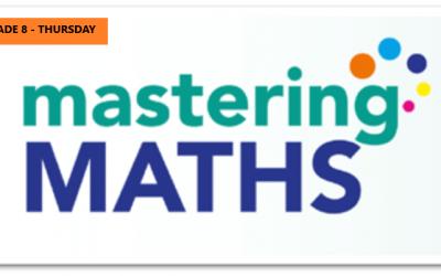 Mastering Math – Grade 8 – Thursday Evening- Online