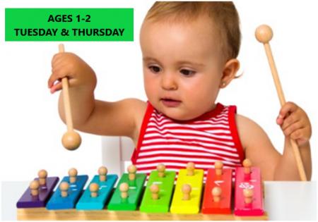 Tot & I – Music & Reading Program' – Ages 1-2 – Tuesday & Thursday Mornings – Online