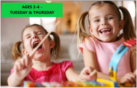 Tot & I – Music & Reading Program' – Ages 2-4 – Tuesday & Thursday Mornings- Online